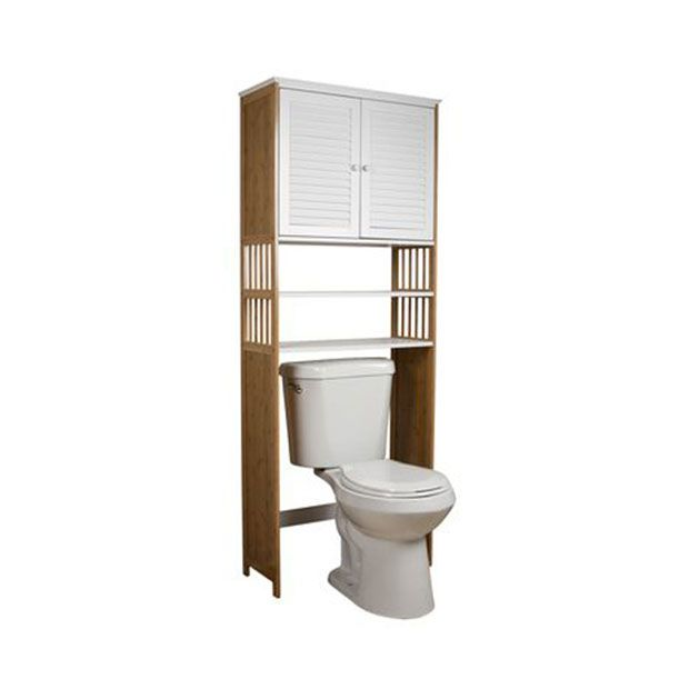 Bamboo bathroom etagere for Small bathroom etagere