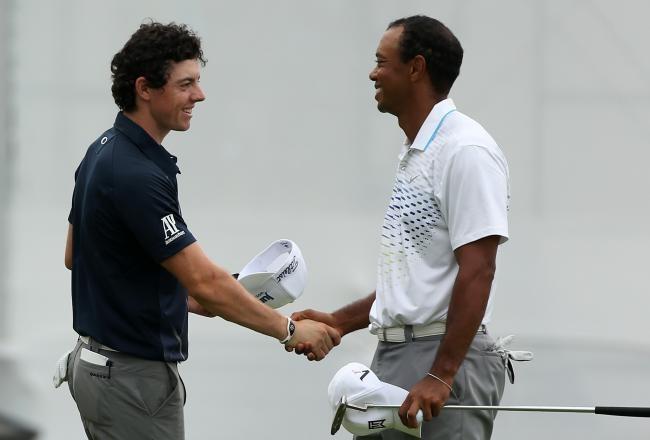 "Tiger calls Rory the ""Intimidator"" #tigerwoods"