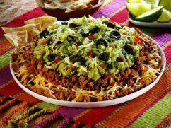 Quorn Mexican Layered Party Dip - This crowd-pleasing recipe combines ...