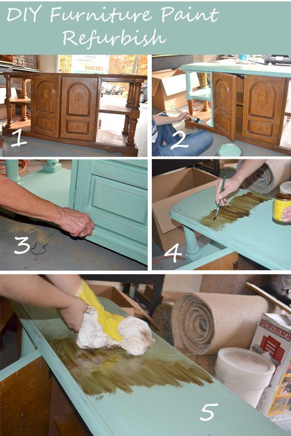 Diy Furniture Paint Refurbish Tutorial Painted