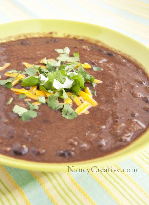 Southwestern Black Bean Soup | SOUPer, STEWpendous dishes | Pinterest