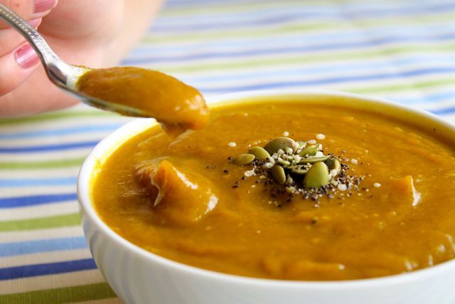 Velvet Butternut Squash and Apple Soup | SOUP RECIPES | Pinterest