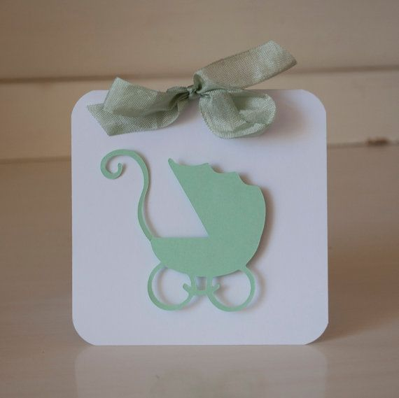 mint green baby shower invitations thank you cards baby carriage pram