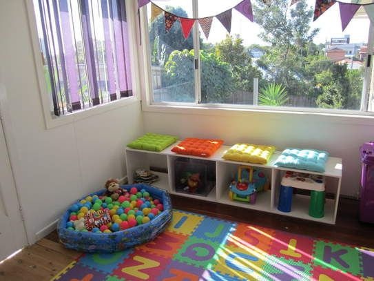 Baby Playroom Ideas : baby ball pit and window bunting  Kid room inspiration  Pinterest