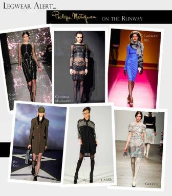 Philippe Matignon tights were featured in six runway shows and presentations at #NYFW Fall 2012 #pmhosiery