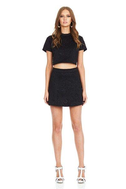 Black Misfits Skater Skirt : Buy Designer Dresses Online at Nookie