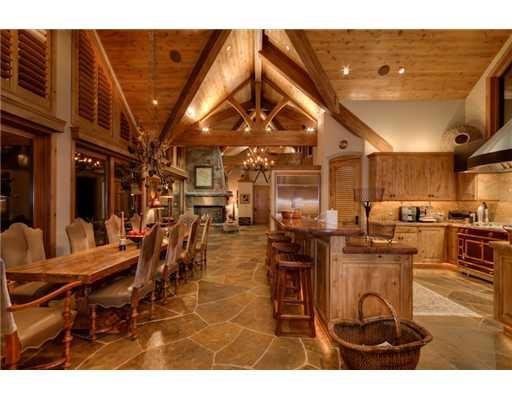 Tahoe lodge style kitchen amazing tahoe kitchens for Lodge style kitchens