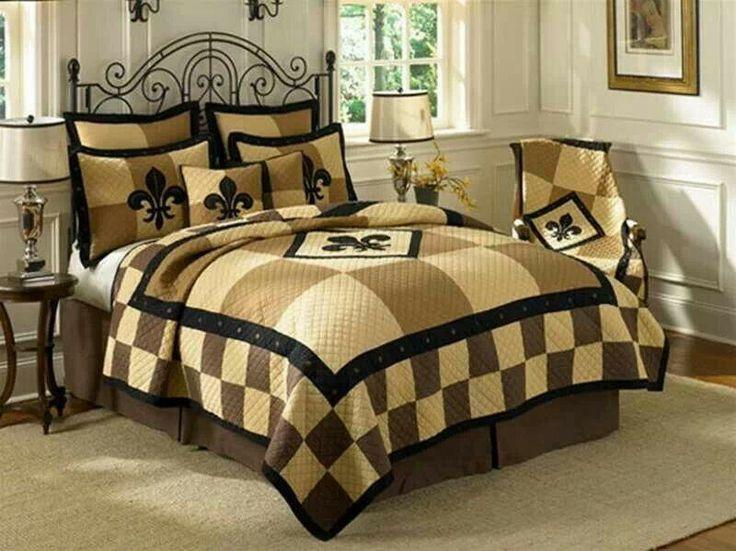 Saints bedroom suite who dats forever pinterest - Fleur de lis bedspread ...