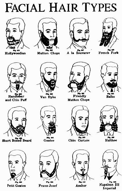 Men's Victorian Facial Hair