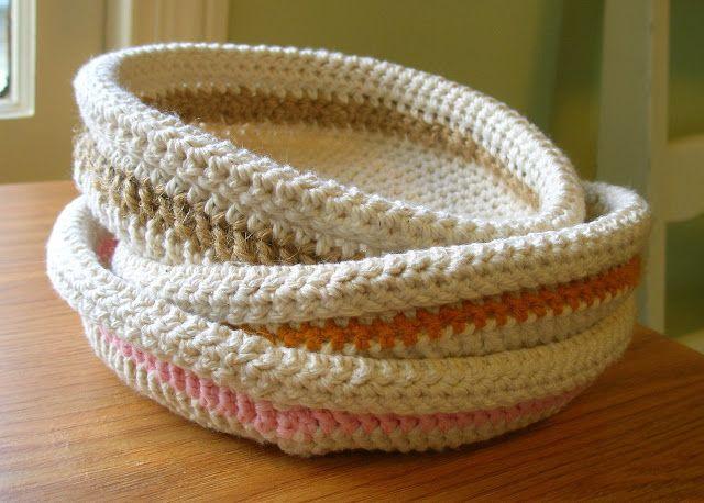 Free Patterns Crochet Baskets Bowls : Free Crochet Patterns Crochet Baskets Pinterest