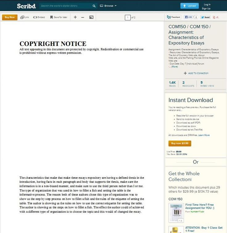 characteristics of expository essays com 150