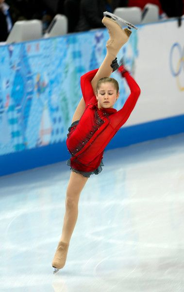 Description of . Russia's Yulia Lipnitskaya performs during the Team Ladies Free Skating at the Iceberg Skating Palace in Sochi, Russia, on ...