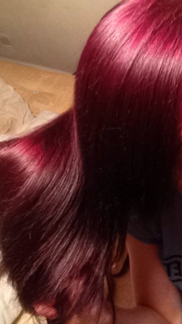 Cherry Red Hair Color | Dark Brown Hairs