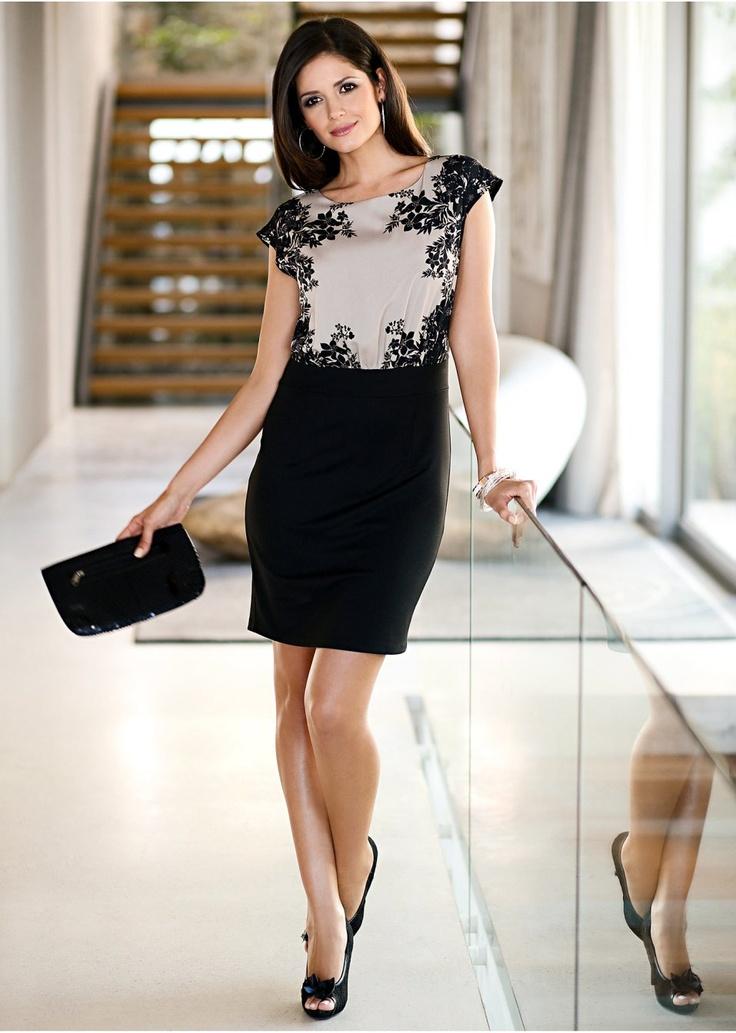 La robe noir/corail clair - BODYFLIRT commande online - bonprix.fr