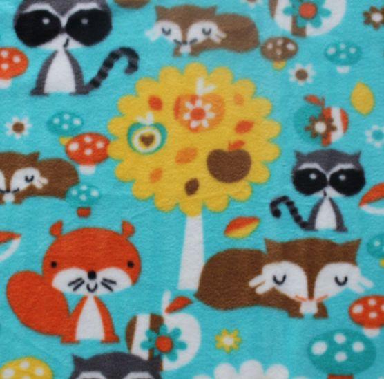 Anti Pill Fleece FabricWoodland Animals Sewing Pinterest