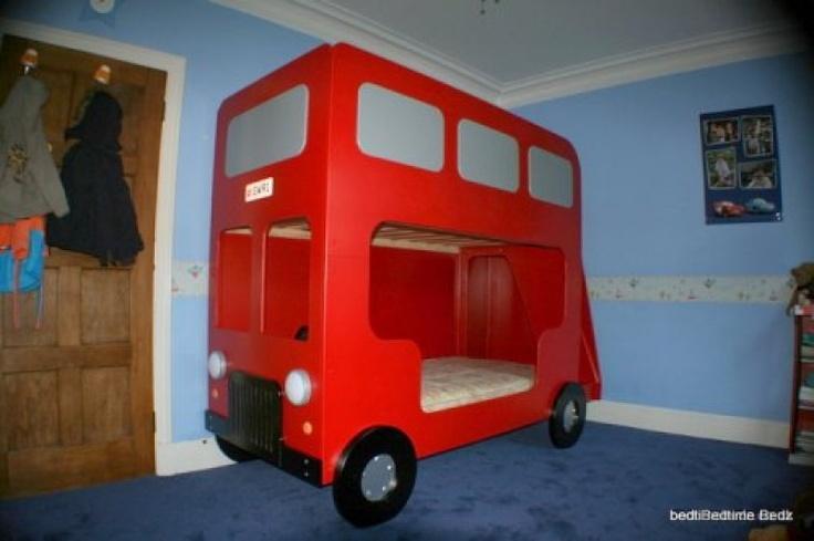Double decker bus bed kids rooms pinterest for Double decker toddler beds