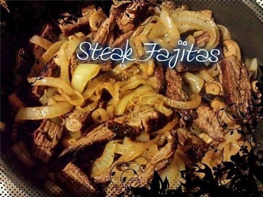 Fajitas Ingredients 1 Tbsp vegetable oil 1 lb of flank steak, skirt ...