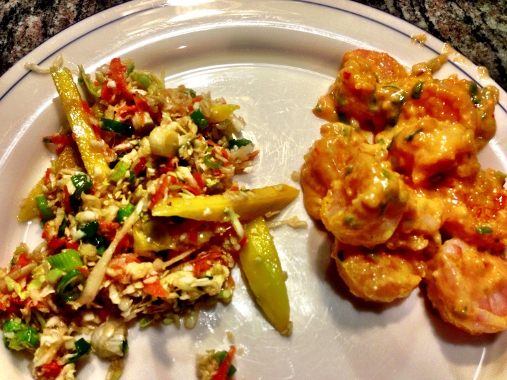 Bangin Good Shrimp, from Skinnytaste 1 lb shrimp, coat with 2 tsp ...