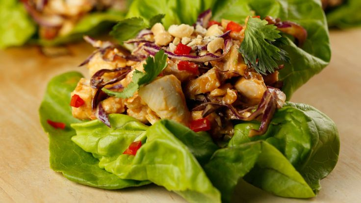 Sunny Anderson's Quick Thai Chicken Lettuce Wraps Recipe. I made this ...