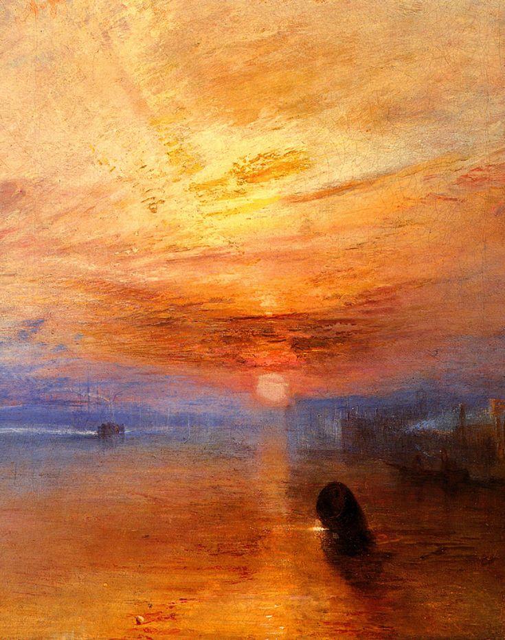 J M W Turner - El Combate; El Temerario remolcado a su último atraque