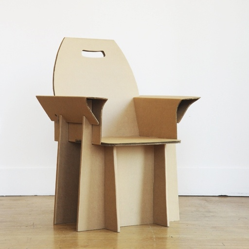 Recycled cardboard chair by nube green three dimensional design - Diy tips assembling flat pack furniture ...