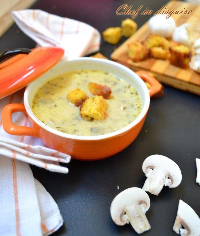 Homemade garlic mushroom soup | Soup it up! | Pinterest
