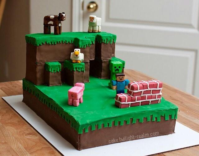 Minecraft cake Cake ideas Pinterest