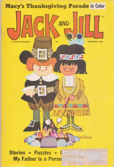 Vintage Jack and Jill Magazine, Thanksgiving issue.