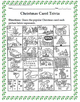 Guess the christmas carol printable christmas song trivia printable