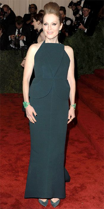 Julianne Moore in a Balenciaga by Alexander Wang dress at the Met Gala 2013
