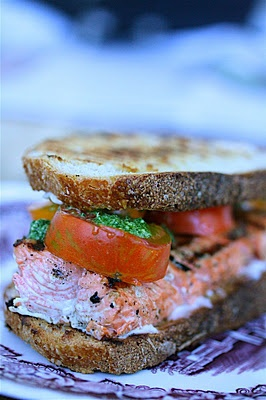 "Grilled salmon sandwich | ""Award Weiners"" - Good mood food! 