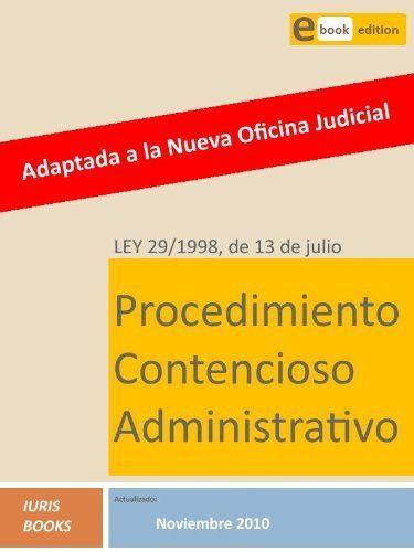 46 de la ley 29 1998: