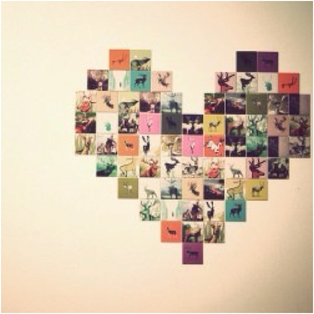 Wall Art Heart Collage : Heart picture collage meow nice