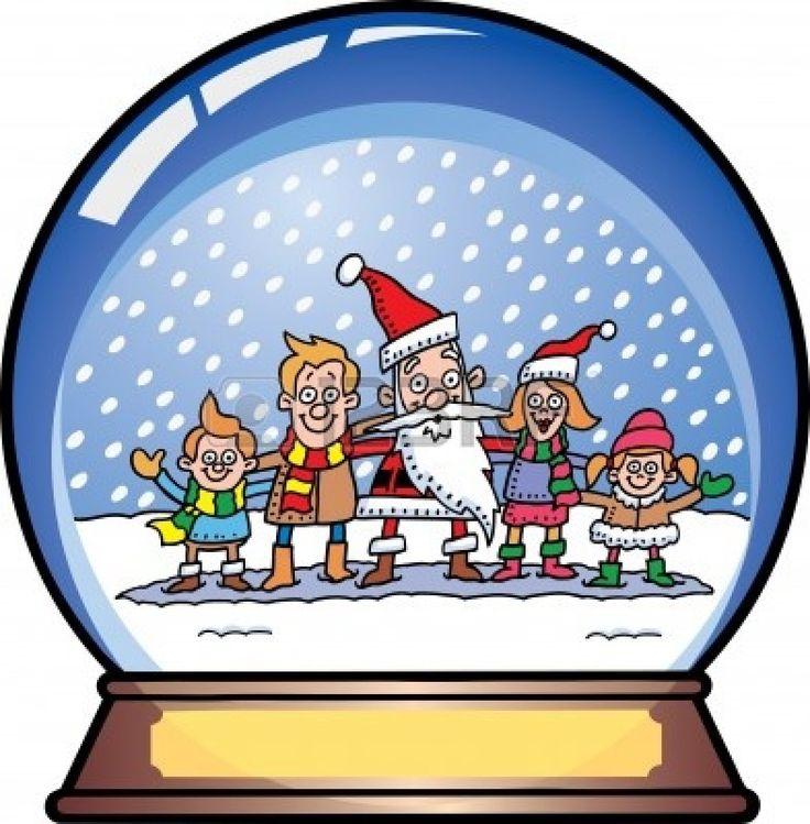 Santa Snow Globe Stock Photo - 10039545 | Christmas Clip Art | Pinter ...