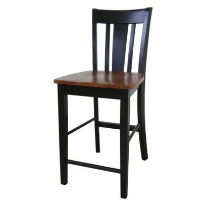 San Remo Counter Height Stool - Black/Cherry (24