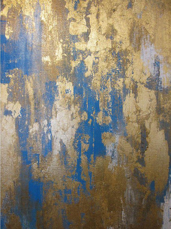Acrylic metal leaf painting art pinterest for Metallic paint artwork