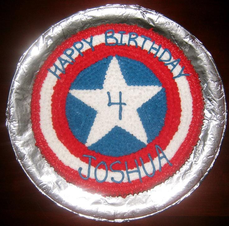 Captain America Cake Disneyland Birthdays! Pinterest