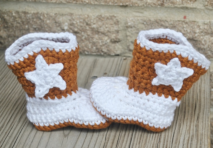 Free Crochet Patterns For Baby Girl Bonnets : Baby Cowboy Boots Pattern