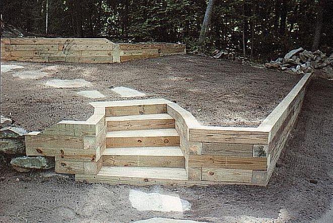 landscape retaining wood wall ideas landscaping flowers. Black Bedroom Furniture Sets. Home Design Ideas