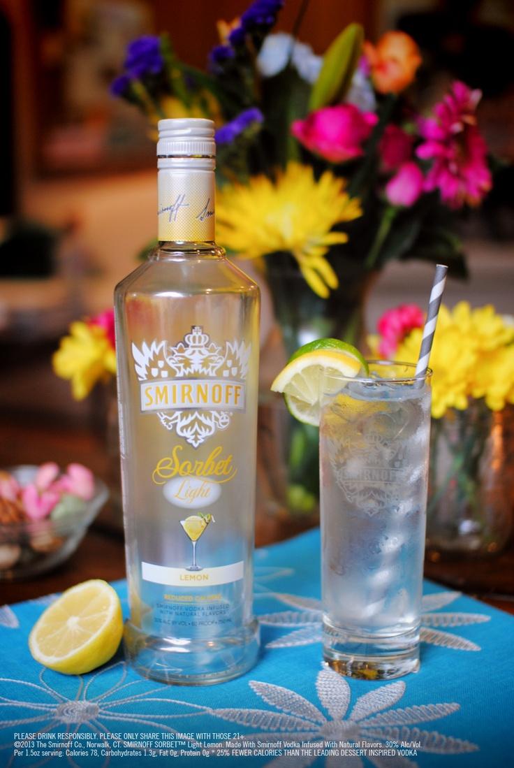 SORBET™ Light Lemon & Lemon-lime Soda: 1.5 oz SMIRNOFF SORBET ...