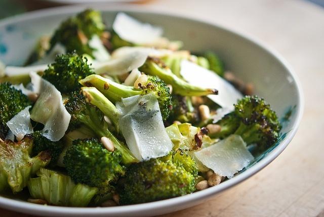 ... Garlic Roasted Broccoli with lemon pine nuts and grana padano cheese