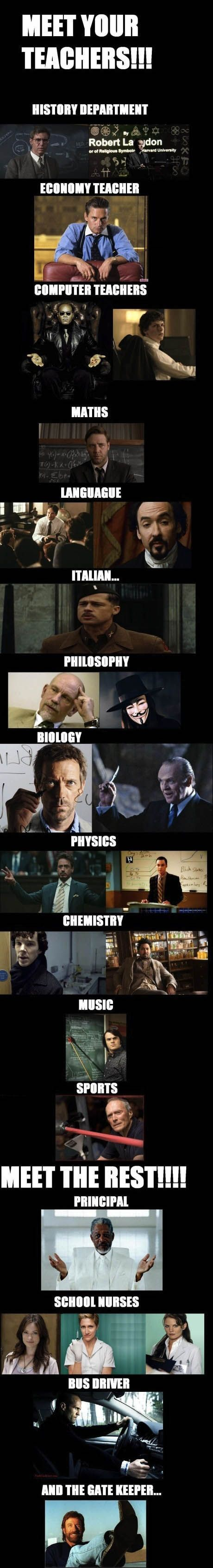 If your teachers were from the movies.