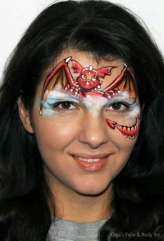Dragon | Face painting inspiration | Pinterest