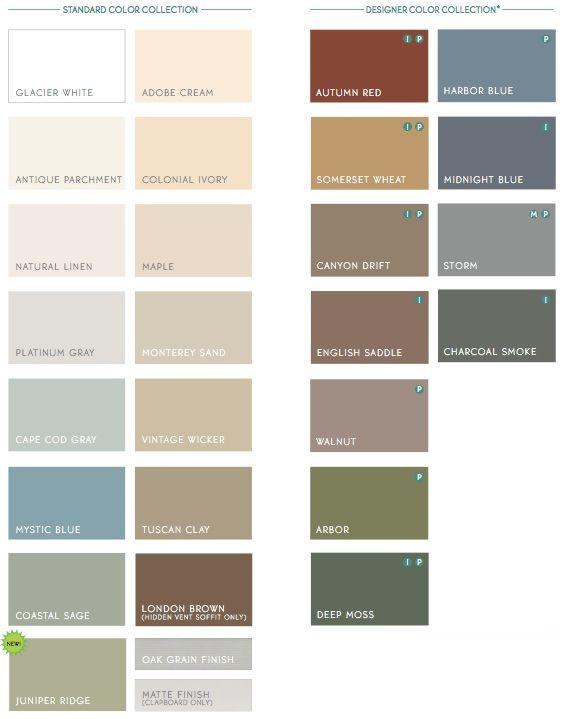alside vinyl siding colors color chart samples products