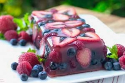 This magnificently colored berry terrine made with a refreshing rosé ...
