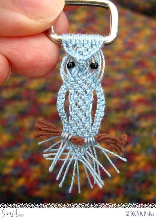 Cute macramé owl