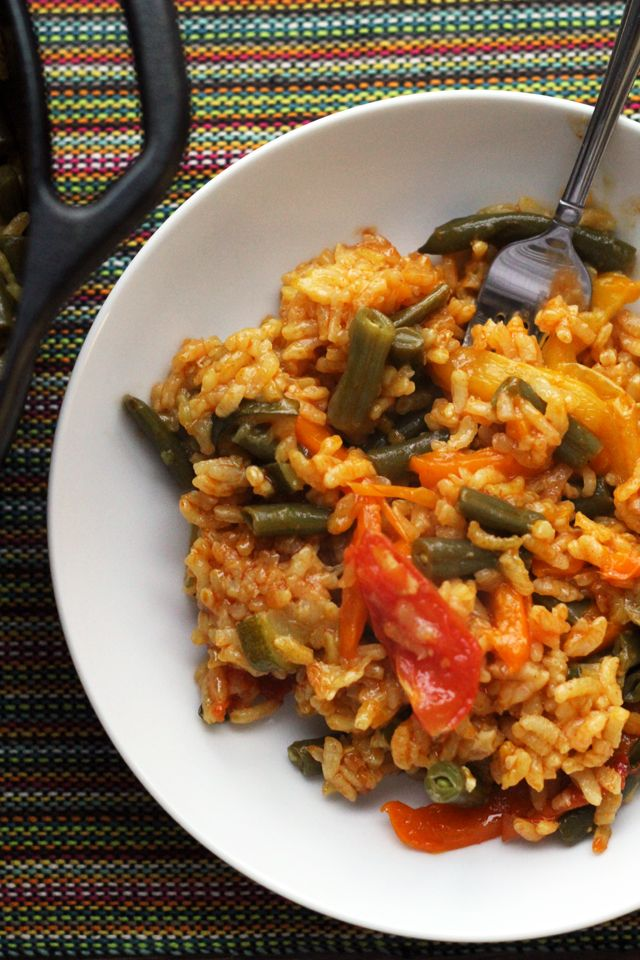 Summer Vegetable Paella - Joanne Eats Well With Others