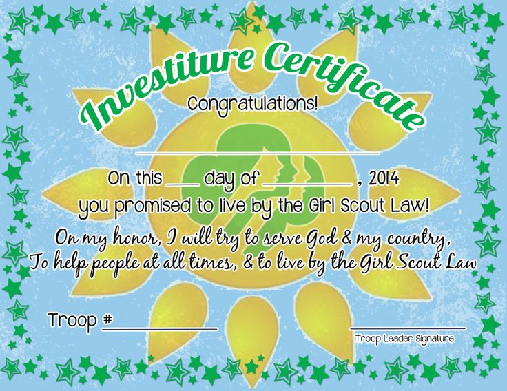 girl scout investiture Question from a girl scout leader: elaine writes: does anyone have any fresh ideas for a rededication/investiture ceremony we're a.