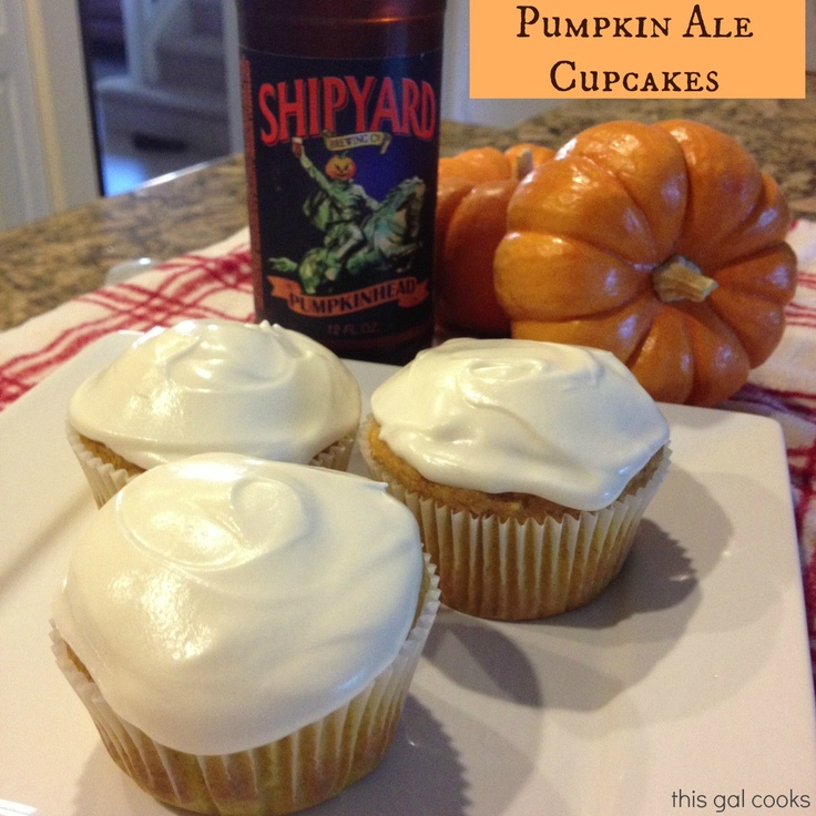 ... much I love baking w/ beer! ;) This Gal Cooks: Pumpkin Ale Cupcakes