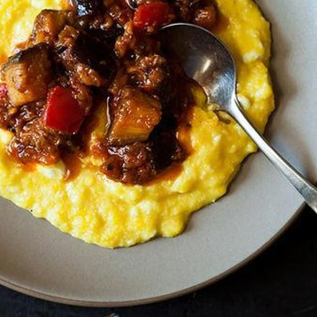 Yotam Ottolenghi's Sweet Corn Polenta With Eggplant Sauce Recipes ...